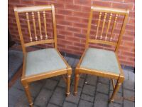 Dining chairs (2) for sale