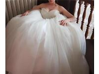 Ball Gown style wedding dress with love heart neckline