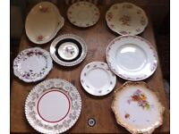 82 pcs vintage china cups saucers etc, wedding or tea party.