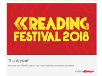 X1 Reading Festival 2018 Saturday Day Ticket