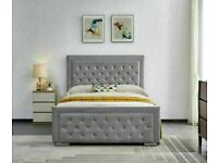 🔴It is clearance time🔴DOUBLE SIZE PLUSH VELVET HEAVEN OTTOMAN STORAGE BED FRAME w OPT MATTRESS🔥