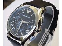 Mens Emporio Armani Chronograph Watch AR-1700 100% Genuine