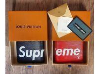 Supreme X lV wallet, red or black