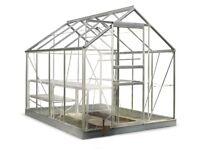 6x10 Halls Popular Greenhouse - New/Sealed + Original Steel Base