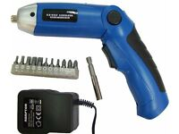 Brand New Folding Cordless Electric Screwdriver Power Tool + Bits + Charger - rechargeable