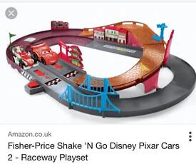 Cars shake and go track + 2 cars
