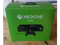 xbox one 1tb like new boxed with all accessories 2 games included