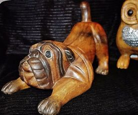 SOLID WOOD HAND CRAFTED ANIMAL SCULPTURES - PRICED AS INDIVIDUAL ITEMS