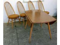 Ercol Windsor Table & Chairs Vintage Retro Mid Century - Delivery Available