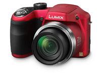 Red Panasonic Lumix LZ20 Bridge Camera - rarely used - 16mpx - 21x Optical Zoom