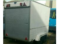AJC twin wheeler box trailer 8x5ft g8t 4 bikes go carts garding boot sale storage disabled scooter