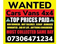‼️ WE BUY ANY CAR VAN 4x4 FAST CASH ON COLLECTION ANY CONDITION SELL MY SCRAP TODAY