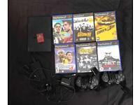 PlayStation 2 with 6 games comes with TV