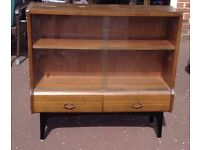 FREE- Glass fronted bookshelf unit with drawers. Classic genuine 60's furniture item.