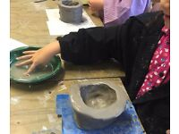 Big and Small Art classes, Adult and child creative class at St Margaret's House, Edinburgh