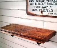 *** CRAGGLE TOP RECLAIMED BARN WOOD INDUSTRIAL PIPE SHELVING ***