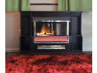 ELECTRIC FIRE > Suncrest optiflame >dark mahogany >