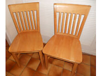 Two Large Heavy Hardwood Dining Chairs - £40 the pair