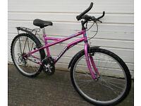 """APPOLO Ladies BIKE, in Purple, 15 Speed, 26"""" Alloy Wheels, Mudguards & Rear Rack in V.G.C"""