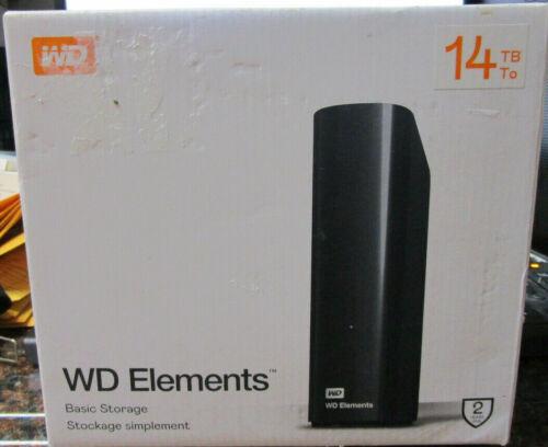 WD 14TB WD Elements Desktop Hard Drive, USB 3.0