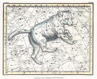 Astronomy Celestial Atlas Jamieson 1822 Plate-06 Art Paper or Canvas Print