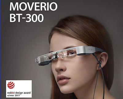 Epson Moverio BT-300 Smart Glasses true AR Si-OLED Display OTG HMD See-through