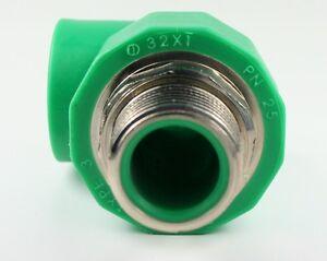 Aqua-Plus-PPR-angolo-AG-32mm-x-1-POLLICI-TUBO-ACQUA-CAVO-RISCALDAMENTO-90