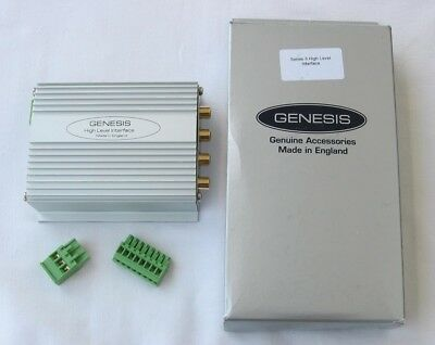 GENESIS THE BEST QUALITY 4-CHANNEL HIGH-INPUT LEVEL ADAPTER/CONVERTOR MADE IN