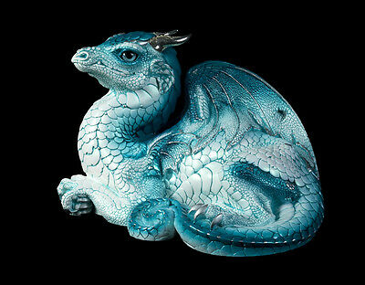 """WINDSTONE EDITIONS """"FROST BERRY """" OLD WARRIOR DRAGON , FANTASY ANIMAL STATUE"""