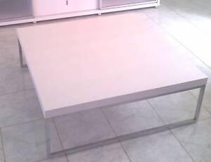 NICK SCALI WOOD & CHROME METAL HIGH GLOSS SQUARE COFFEE TABLE Maribyrnong Maribyrnong Area Preview