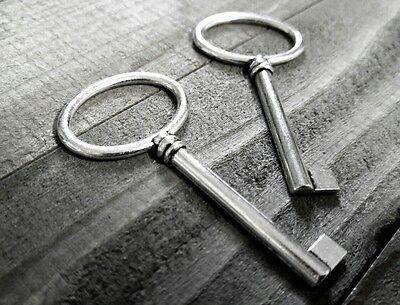 Skeleton Keys Bulk (100 Bulk Skeleton Keys Silver Key Pendants Steampunk Keys Bulk Pendants )