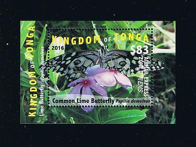 Tonga - 2016 Butterflies EMS Rates Part 3 Deluxe Postage Stamp Set