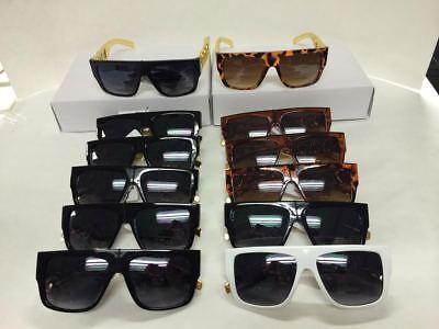 L222 Hip Hop Fashion Rapper Style Men's Large Square Sunglasses Wholesale (Hip Hop Sunglasses Wholesale)