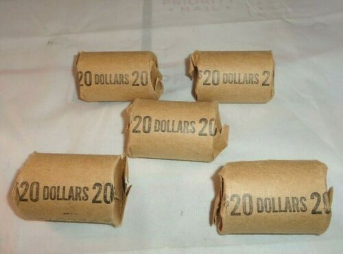 Lot of 100 US $1 Eisenhower Dollar Coins 5 Bank Rolls of 20 Ikes Each Circulated