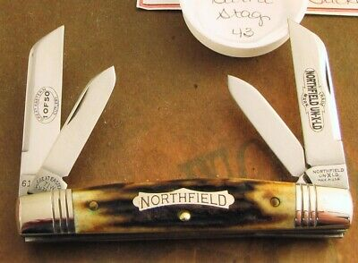 Great Eastern Stag Northfield Congress Knife 2009 Issue 1 of 50 MIB With COA! NR