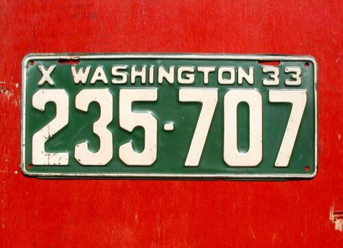 1933 Washington Nice Original  235-707 License Plate