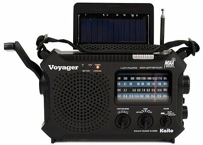 Katio Ka500l Am Fm Shortwave Dynamo Solar Crank Emergency Weather Radio Black