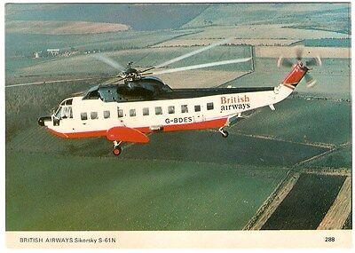 British Airways Sikorsky S-61N., By Charles Skilton's Postcards