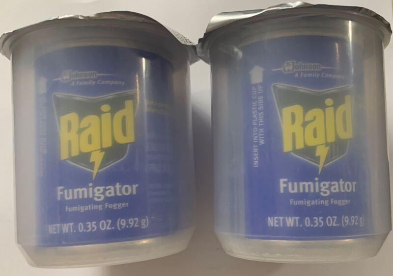 RAID Fumigator Fogger .35 oz Cans Total Of 2