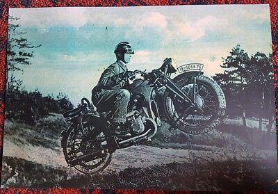 NSKK, Wehrmacht Krad, Zündapp K 500 Poster Plakat XA  RZM Motorrad Germany ww2