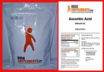 ASCORBIC ACID VITAMIN C Powder BulkSupplements CHOOSE 1000/5