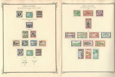 Cook Islands Collection 1938 to 1949 on 2 Scott Specialty Pages