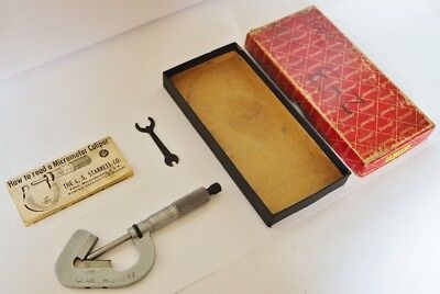 Starrett .093 1 V-anvil Micrometer .0001 Graduations 483 Usa