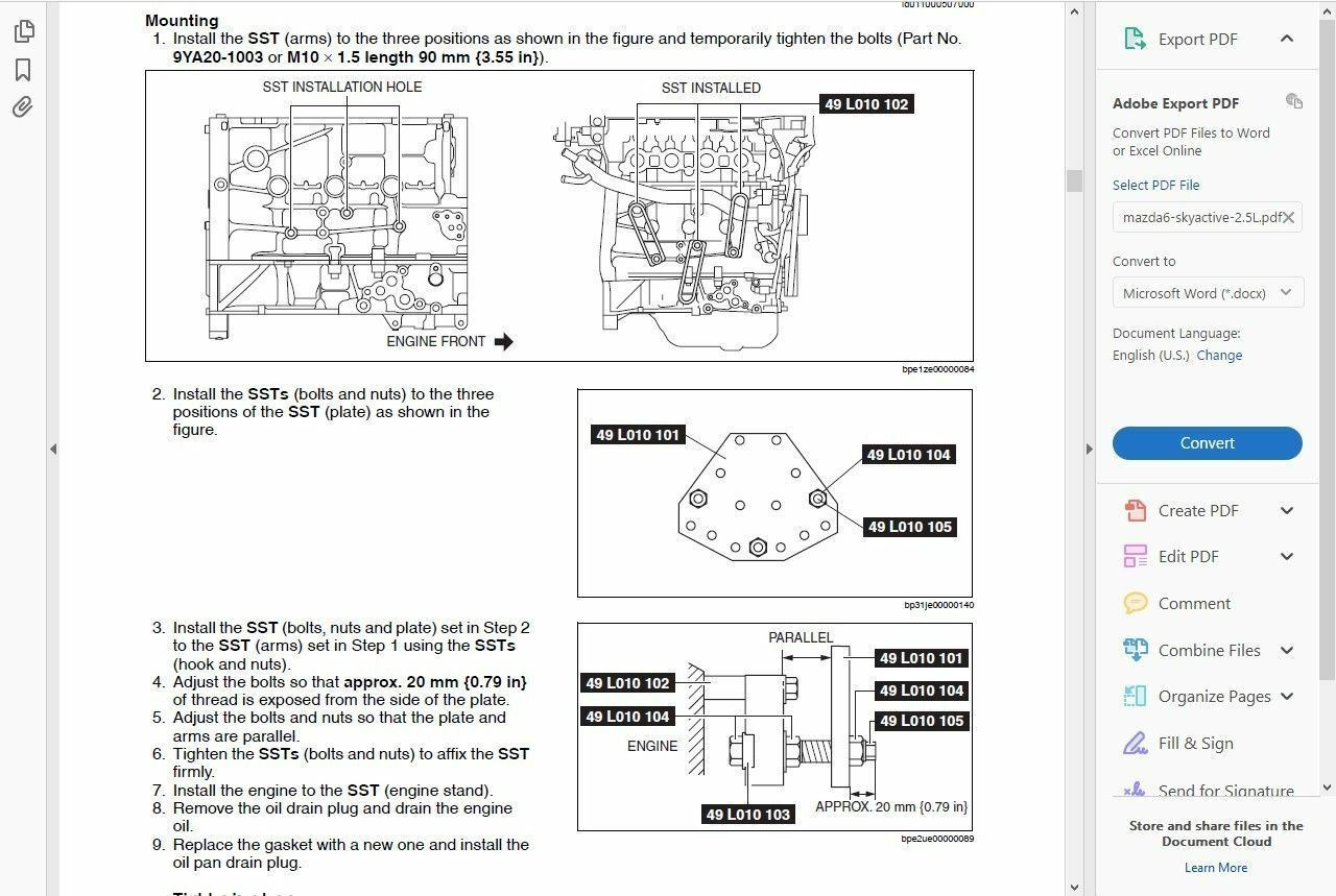 ... Factory Workshop Service Repair Manual Mazda 6 2012-2016 +Wiring 2 of 6  ...