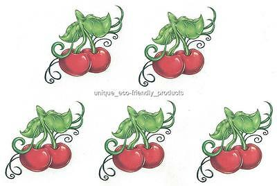 (LOT 5 CHERRIES CHERRY NEW DESIGN FOR 2015 Temporary Tattoo)