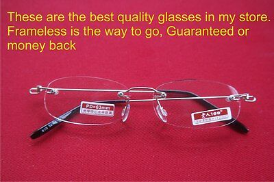 Authentic Mingbo Brand Premium frameless rimless glasses + case. Polished edges (Frameless Glasses Brands)