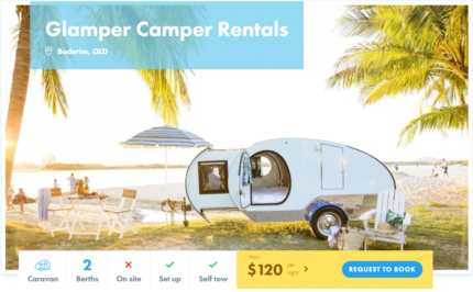 2 Berth Retro Teardrop Camper FOR HIRE in Buderim from $120/night Buderim Maroochydore Area Preview