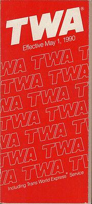 TWA system timetable 5/1/90 [308TW] Buy 2 Get 1 Free