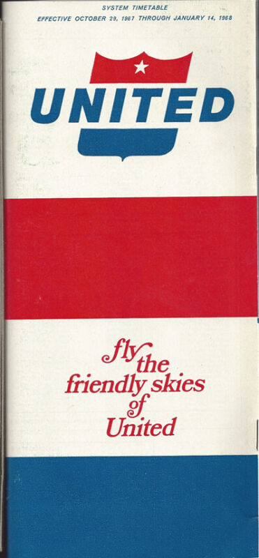 United Airlines system timetable 10/29/67 [0011]