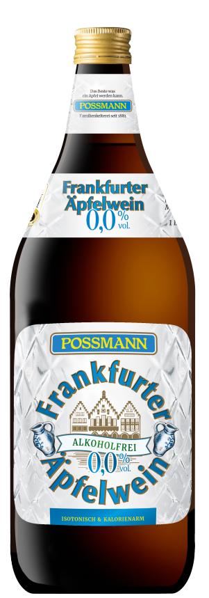 Possmann Frankfurter Äpfelwein Alkoholfrei 6 x 1 Liter inkl. 0,90€ MEHRWEG Pfand